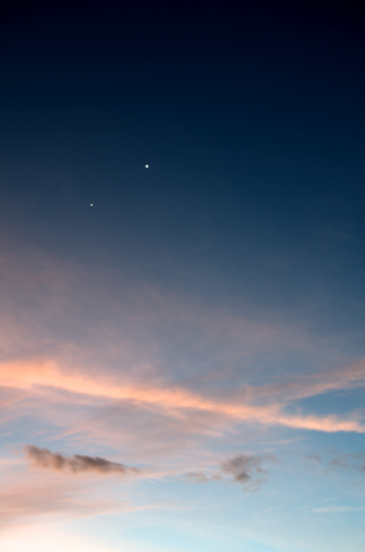 Jupiter and Venus. Copyright Anette Hermann.